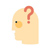 Icon of a head with a question mark